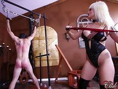 Clubdom mistress breaks in her slaves asshole movies at freekilosex.com