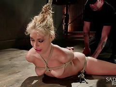 Carmen caliente in tight bondage and screaming. movies