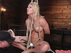Blonde bdsm sub whipped till she squirts movies at kilogirls.com