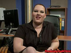 Chubby beauties dominated in the office tubes
