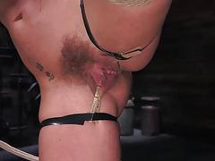 Blonde, big tits, mega star phoenix fucking marie in bondage movies at freekilomovies.com