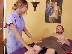 Teen masseuse feels gross to see his cum movies at find-best-mature.com