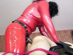 Latex mistress fuck slave movies at freekilomovies.com