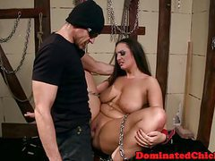 Chubby slave whipped and dominated tubes