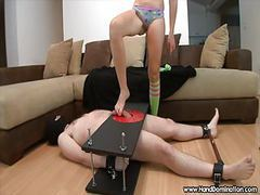 Sadistic mistress unleashes during femdom handjob tubes