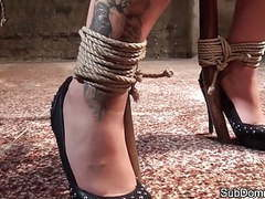 Smalltits sub toyed and gagged by dom movies