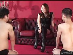 Japanese femdom risa slave evaluation movies at freekilosex.com