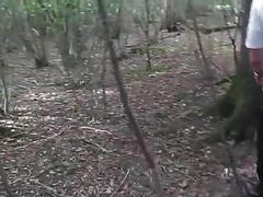 Slut wife hooded in forest and fucked 1 tubes