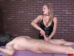 Tough masseuse like to see your cock pulsating in her hands videos