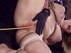 New girl in bondage and living her fantasy videos