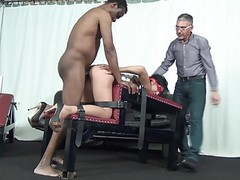 Two guys dominate a horny slave bitch with bandaged eyes movies at nastyadult.info