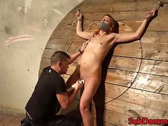 Euro bdsm sub restrained for toying by dom videos