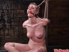 Tied up bondage sub whipped and spanked movies at kilovideos.com