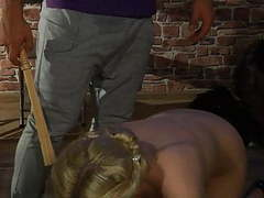 Pretty girl gets whipping, hot waxing and more. movies at kilogirls.com