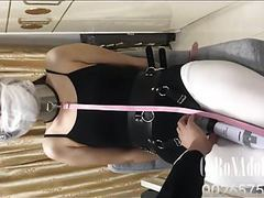 Swimsuit gauze mask bondage breath play gag videos