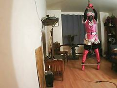 Sissy slut bound and gagged tubes