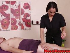 Dominant masseuse cumcontrols patient movies at freekiloporn.com