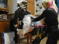 Maid scarf bound and teased movies at freekiloporn.com