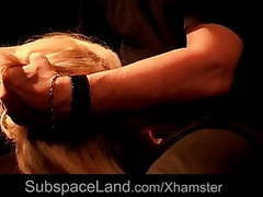 Romanian blonde bdsm used in a dark basement movies at sgirls.net