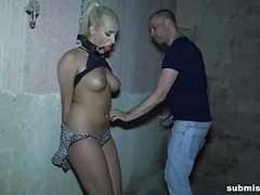 Hot blonde babe rope tied gagged and vibed intensely movies at adipics.com