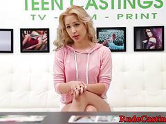 Cute petite deepthroats cock at fake casting movies at find-best-lingerie.com