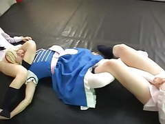 2 girls humiliate a small guy videos