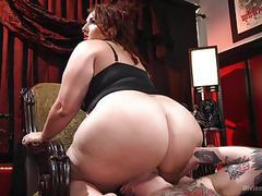 Bbw domme destroys her sub movies at freekilosex.com