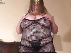 Fat huge breasted housewife mom playing alone movies at kilopills.com