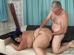 Big fat girl fucked and eats cum movies