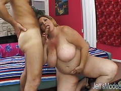 Plus-sized deedra rae's pussy and mouth engulf a guy's cock movies at find-best-mature.com