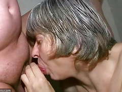 Oldnanny granny sucking dick and fucking hard movies at freekiloclips.com