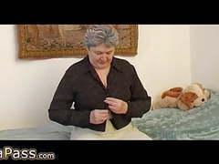 Omapass granny masturbating hairy pussy with toy and granpa movies at kilogirls.com