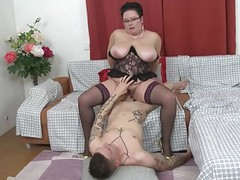 Mature bbw mom licked and fucked by young son videos