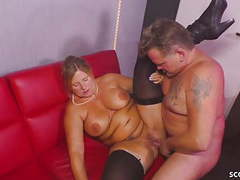 German bbw granny seduce younger stripper to fuck her movies at find-best-mature.com
