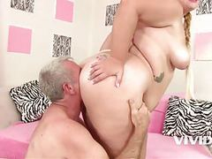 Vivid.com - fat slut tiffany gets fucked by an old man clip