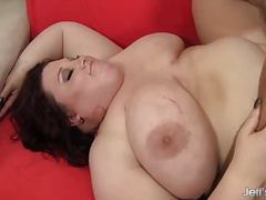 Fat beauty gets her mouth and twat filled with a thick cock movies at kilopics.net