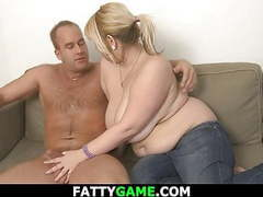 Chubby blond takes it from behind movies at kilosex.com
