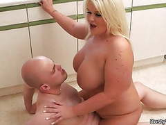 Blonde fatty rides boss cock for cash movies at freekilosex.com