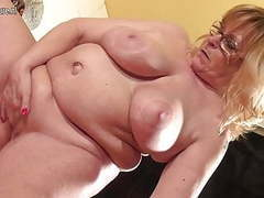 65yo granny still hungry for a good fuck clip