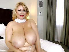 Bbw nun samantha 38g drills her fat pussy with toy movies at find-best-lingerie.com