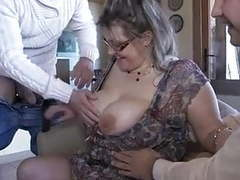 French mature julia gangbanged in stockings videos