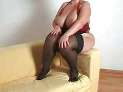 Busty plumper milf in stockings movies