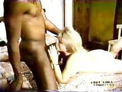 Blonde white wife with black lover - homemade interracial cuckold vintage movies at freekiloporn.com