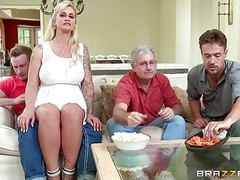 Brazzers - my stepmom bought me a stripper movies