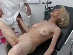 Granny gets her injection at the doctors movies at kilovideos.com