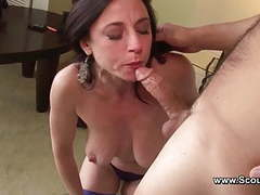 Mom get anal fuck in her old ass and cum in face tubes