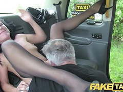 Fake taxi sex mad milf loves to ride cock in london taxi videos