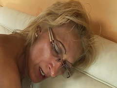 Horny grandma enjoys rimming with stepson tubes
