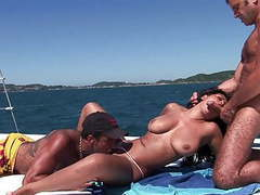 Sailing! sailing! up the brunette's butt! videos