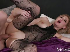 Mom wet big tits milf in bodystocking squirting and rimming videos